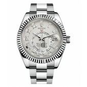 Fake Rolex Sky Dweller White Gold Watch 326939.