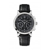 A. Lange & Sohne 414.028 1815 Chronograph White Gold  Black  Pulsometer