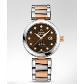 Omega DeVille Ladymatic Brown Dial Two Tone  watch replica  425.20.34.20.63.001