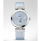 Omega DeVille Ladymatic Blue Automatic Diamond  watch replica 425.32.34.20.57.002