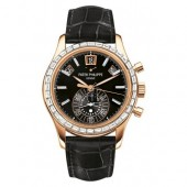 Patek Philippe Complications Chronograph Annual Calendar Automatic Gold Diamond 5961R-010