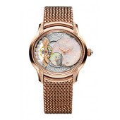 Audemars Piguet Frosted Millenary Gold Opal Dial Rose Gold 77244OR.GG.1272OR.01