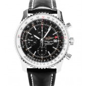 Breitling Navitimer World Black Mens GMT Chronograph A2432212/B726/441X  replica.
