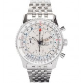 Breitling Navitimer World Steel Mens Watch A2432212/G571/443A  replica.
