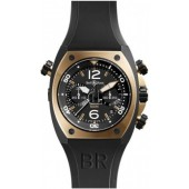 Bell & Ross Chronograph Pink Gold & Carbon Mens Watch BR 02-94 PINK GOLD&CARBON fake