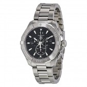 Tag Heuer Aquaracer Chronograph Automatic Black Dial Stainless Steel Men's Watch CAY2110.BA0927 fake.
