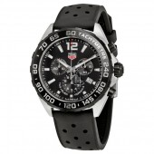 Tag Heuer Formula 1 Chronograph Black Dial Black Rubber Men's Watch CAZ1010.FT8024 fake.