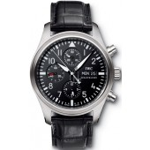 Cheap IWC Classic Pilot's Automatic Chronograph Mens Watch IW371701 fake.