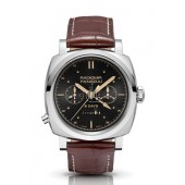 Fake Panerai Luminor 1940 Chrono Monopulsante 8 Days GMT Oro Bianco PAM00503