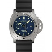 Fake Panerai Luminor Submersible 1950 Regatta 3 Days GMT Automatic Titanio PAM 00371