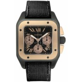 AAA quality Cartier Santos 100 Chronograph Mens Watch W2020004 replica.