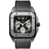 AAA quality Cartier Santos 100 Chronograph Mens Watch W2020005 replica.