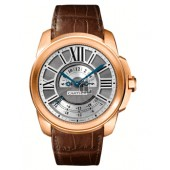 AAA quality Calibre De Cartier Multiple Time Zone 18 kt Rose Gold Mens Watch W7100025 replica.