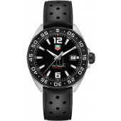Tag Heuer Formula 1 Black Dial Black Rubber Men's Watch WAZ1110.FT8023 fake.