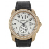 AAA quality Calibre De Cartier Diamond Pink Gold Automatic Mens Watch WF100005 replica.