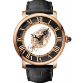 Replica Rotonde De Cartier 43.5 mm Manual Pink Gold Watch