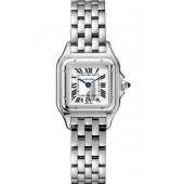 Cartier Panthere de Silver Dial Ladies Stainless Steel WSPN0006