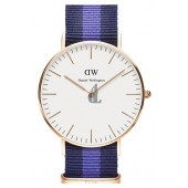 $85:Discounts Daniel Wellington Classic Swansea Round NATO Strap Watch 36mm