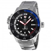 Replica IWC Aquatimer Black Dial Stainless Steel Mens Watch IW354703