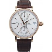 IWC Portofino Hand-Wound Monopusher Chronograph Watch IW515104 fake