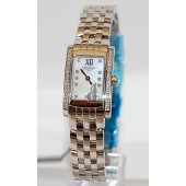 Replica Longines Dolce Vita L5.158.0.84.6 Womens Rectangle Stainless Steel set with Diamonds Quartz Watch