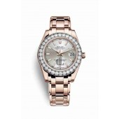 Rolex Pearlmaster 34 Everose gold 81285 Silver Dial