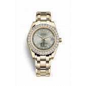 Rolex Pearlmaster 34 yellow gold 81298 Silver Dial