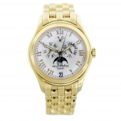 Fake Patek Philippe Annual Calendar Moonphase White Dial Gold Stainless Steel Automatic Unisex Watch 5036-1J