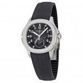 Fake Patek Philippe Aquanaut Dual Time Black Dial Automatic Men's Watch 5164A-001