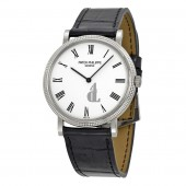 Fake Patek Philippe Calatrava White Dial 18 kt White Gold Men's Watch 5120G