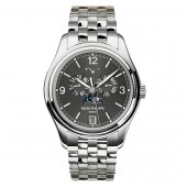 Fake Patek Philippe Complicated Mechanical Slate Grey Dial Men's Watch 5146/1G-010