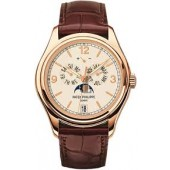 Fake Patek Philippe Complications Moonphase Automatic 18 kt Rose Gold Men's Watch 5146R