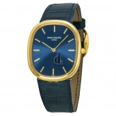 Fake Patek Philippe Golden Ellipse 18kt Yellow Gold Blue Men's Watch 3738-100J