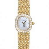 Fake Patek Philippe Golden Ellipse White Mother of Pearl Dial Ladies Watch 4931-2J