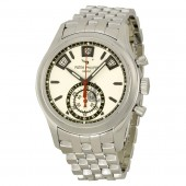 Fake Patek Philippe Complications Silver Dial Chronograph Stainless Steel Men's Watch 5960-1A