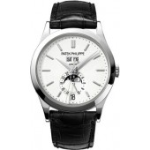 Fake Patek Philippe Grand Complications Silvery Opaline Men's Watch 5396G-011