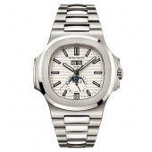 Fake Patek Philippe Nautilus Silver Dial Stainless Steel Men's Mechanical Watch 5726-1A-010