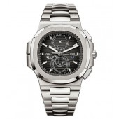 Fake Patek Philippe Nautilus Travel Time Chronograph Stainless Steel Automatic Men's Watch 5990-1A-001