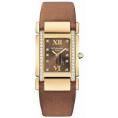 Fake Patek Philippe Twenty-4 18kt Rose Gold Chocolate Strap Diamond Ladies Watch 4920R