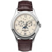 Fake Patek Philippe Complicated Annual Calendar 18kt White Gold Automatic Men's Watch 5146G