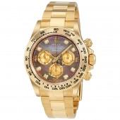 imitation Rolex Cosmograph Daytona 116508BKMDO Black Mother of Pearl Dial 18K Yellow Gold Watch
