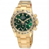 imitation Rolex Cosmograph Daytona 116508GRSO Green Dial 18K Yellow Gold Oyster Watch