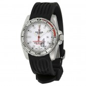 Tudor HydronautII White Dial Black Rubber Ladies Watch 24060-WSBKRS Replica