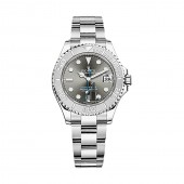 imitation Rolex Yacht-Master 268622 Rhodium Dial Steel and Platinum Oyster Midsize Watch RSO